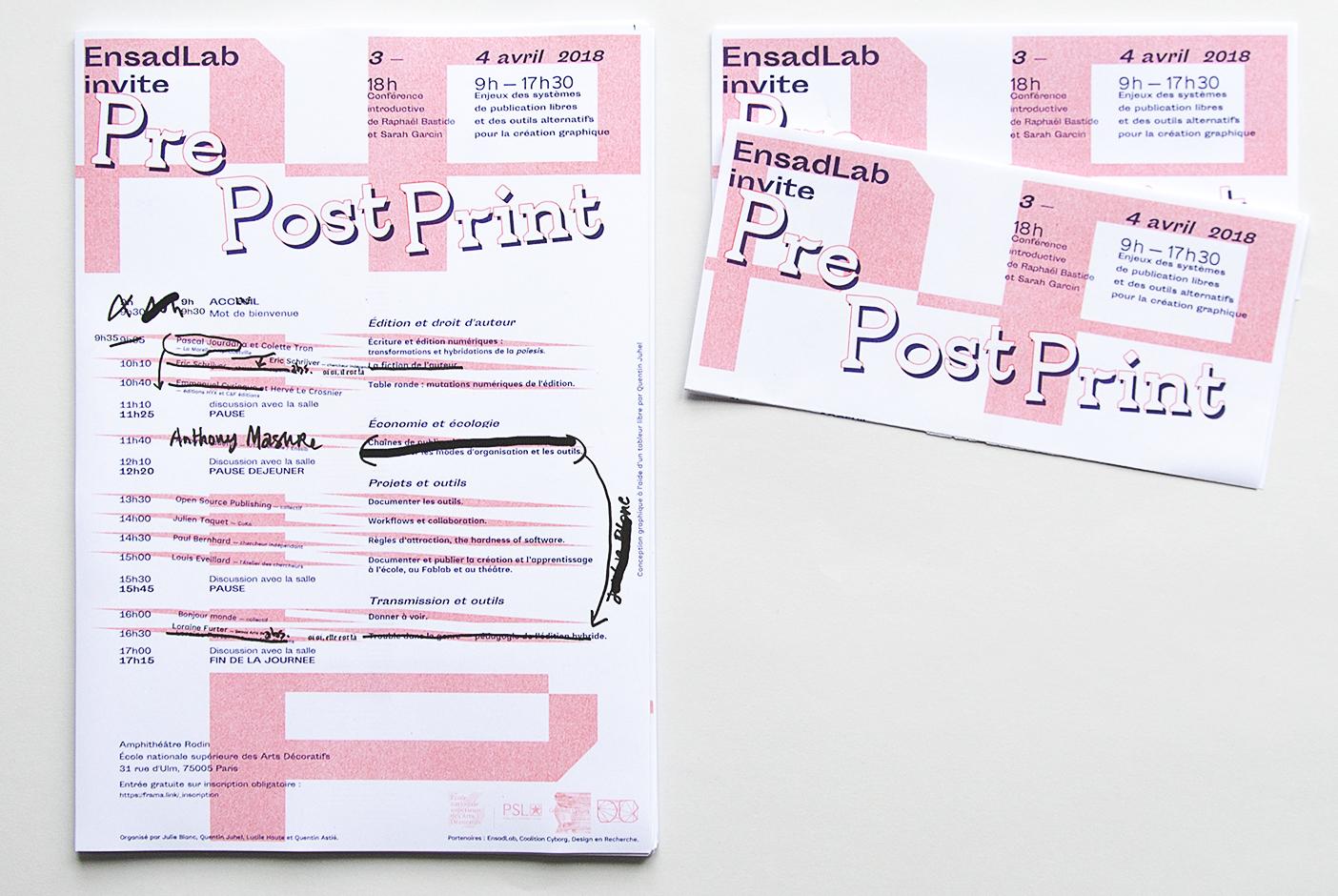 Programme EnsadLab invite PrePostPritn
