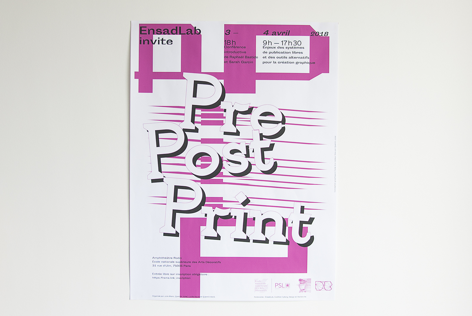 Poster EnsadLab invite PrePostPrint